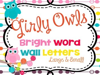 Bright Word Wall Letters {Large and Small sizes}