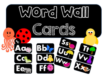 Bright Word Wall Posters (black)