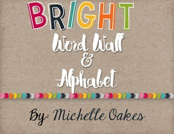 Bright Word Wall and Alphabets