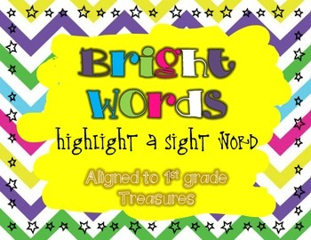 Bright Words Highlight a Sight Word Treasures