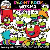 Bright Worms Clipart {Book Worms Clipart}