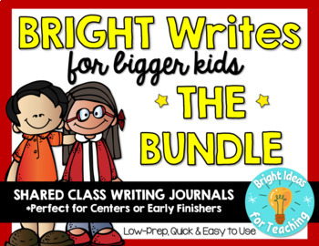 {BUNDLE} Bright Writes For Bigger Kids: Journal Prompts