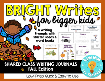 Bright Writes For Bigger Kids: Journal Prompts {Oct./Nov.}
