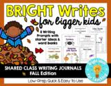 Bright Writes For Bigger Kids: Journal Prompts {Oct./Nov.}