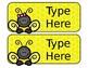 Yellow Bee Nameplates (Editable)