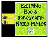 Yellow Bee Nameplates (Editable)