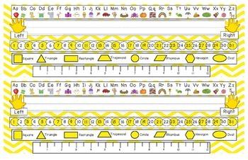 Bright Yellow Chevron Desk Reference Nameplates Version 2
