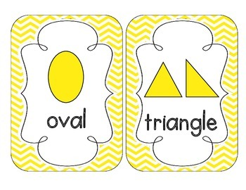 Bright Yellow Chevron Shape Cards
