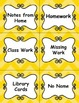 Bright Yellow Chevron Subject Labels