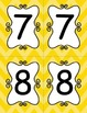 Bright Yellow Chevron Table Numbers