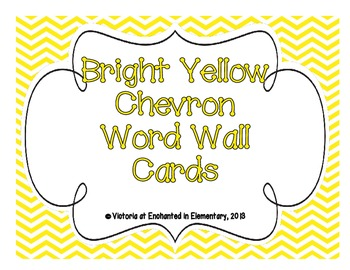 Bright Yellow Chevron Word Wall Cards