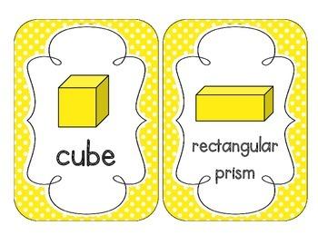 Bright Yellow Polka Dot Shape Cards
