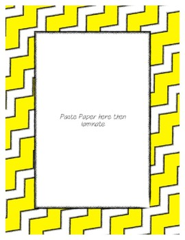Bright Yellow Poster Frames * Create Your Own Dream Classroom / Daycare *