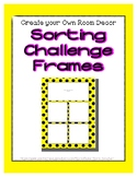 Bright Yellow Sorting Mat Frames * Create Your Own Dream C