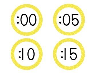 Bright Yellow Starry Skies Clock Numbers