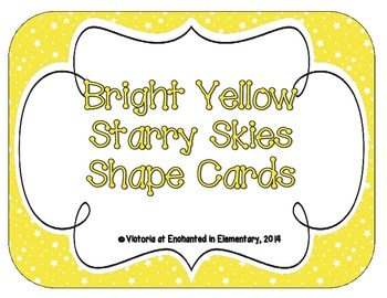 Bright Yellow Starry Skies Shape Cards