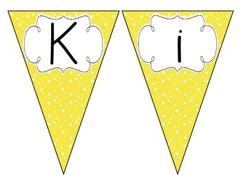 Bright Yellow Starry Skies Welcome Pennant