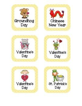 Bright Zebra Print Holiday Calendar Pieces
