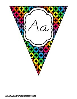 Bright and Beautiful Alphabet Bunting {ABC Display in THREE Styles!}