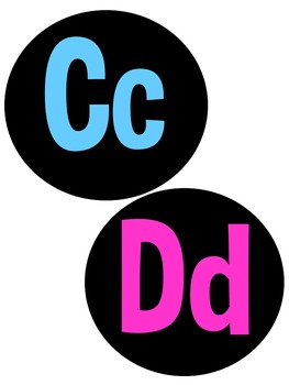 Bright and Black Classroom Labels