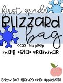 Blizzard Bag- No Prep- 1st Grade CCSS- 3 Snow Days **Updated