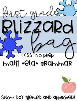 Blizzard Bag- No Prep- 1st Grade CCSS- 3 Snow Days **Updated