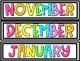 Bright and Bold Calendar Pieces