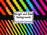 Bright and Bold Digital Backgrounds {Pixel Staircase}