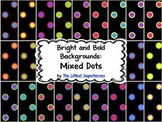 Bright and Bold Digital Backgrounds {Mixed Dots}