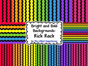 Bright and Bold Digital Backgrounds {Rick Rack}
