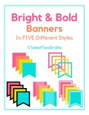 Bright and Bold - Editable Banners