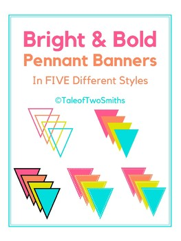 Bright and Bold Editable Pennant Banners