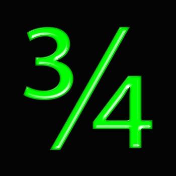 Alphabet Clip Art Bright & Bold in Green + Numerals, Math Symbols & Punctuation