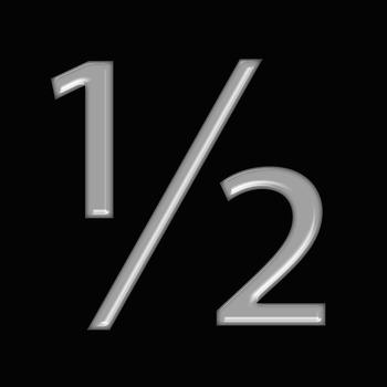 Alphabet Clip Art Bright & Bold in Grey + Numerals, Math Symbols & Punctuation