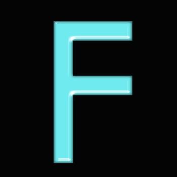 Alphabet Clip Art Bright & Bold Light Blue +Numerals,Math Symbols & Punctuation
