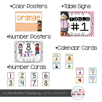 Bright and Bold Polka Dot Theme Classroom Decor {Editable}