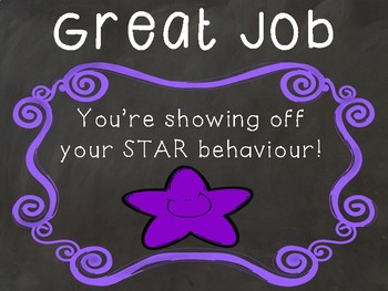 Bright and Bold Stars Classroom Management Chart