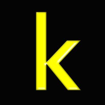 Alphabet Clip Art Bright & Bold in Yellow + Numerals, Math Symbols & Punctuation