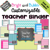 EDITABLE Teacher Binder 2017-2018 {Bright and Bubbly}
