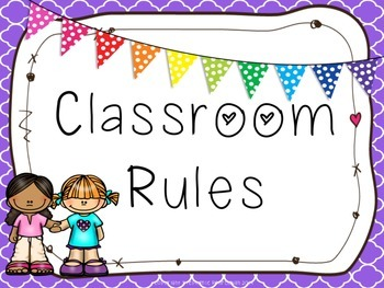 Bright and Bunting Classroom Rules Posters