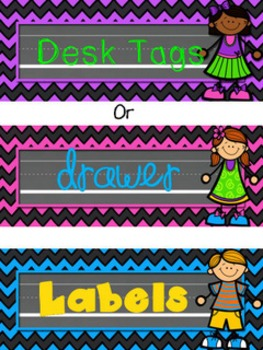 Bright and Chalky Editable Labels, Binder and Product Covers