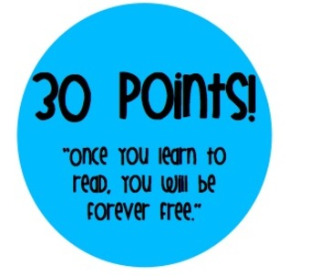 Bright and Cheerful Accelerated Reader (AR) or other reading incentive points!