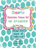Bright and Cheerful Classroom Theme Decorations in Spanish (almost 200 pages!)