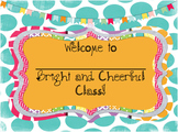 Bright and Cheerful Classroom Theme Decorations (over 200 pages!)