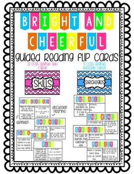 Bright and Cheerful Guided Reading Skills and Strategies Flip Cards