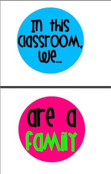"""Bright and Cheerful """"In This Classroom, We..."""" Signs"""