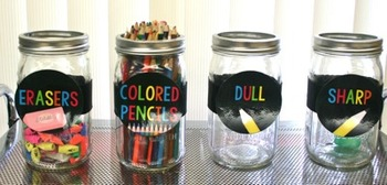 Bright and Cheerful Jar and Cart Labels