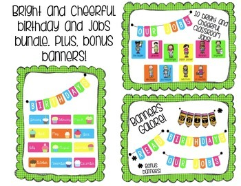 Bright and Cheerful Jobs and Birthdays Bundle!