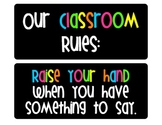 Bright and Cheerful Simple Classroom Rules