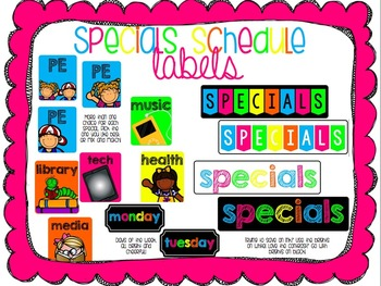 Bright and Cheerful Specials Board